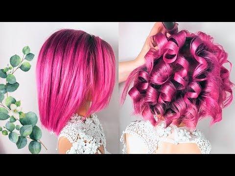 💕ПРИЧЕСКИ на Новый год 2020 на короткие волосы из Локонов💕 Short Hairstyles ©LOZNITSA