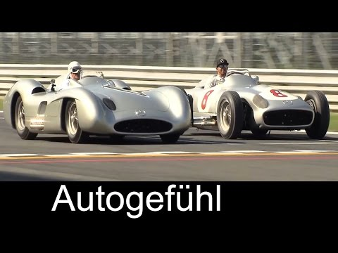 Lewis Hamilton & Sir Stirling Moss in Mercedes 300 SLR (W 196 S) at Mille Miglia - Autogefühl