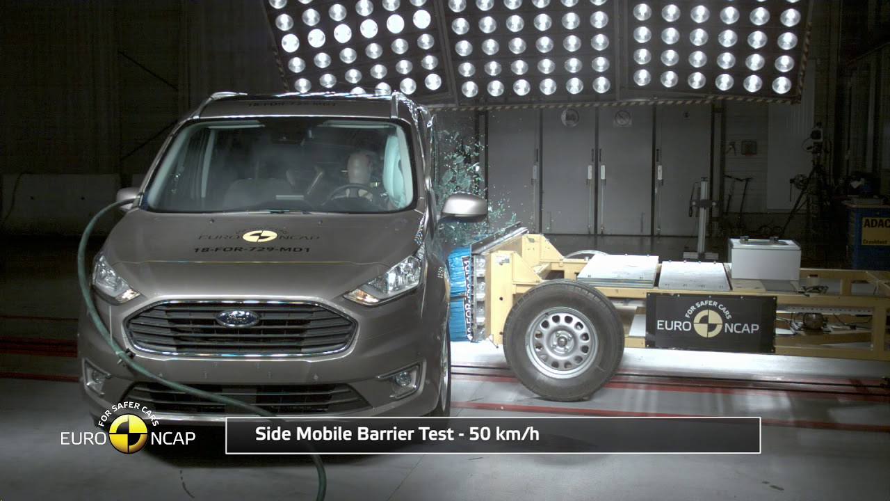 Euro Ncap Crash Test Of Ford Tourneo Connect 2018 Youtube
