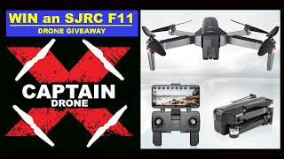 Win an SJRC F11 Drone!  Captain Drone & Geekbuying Drone Giveaway