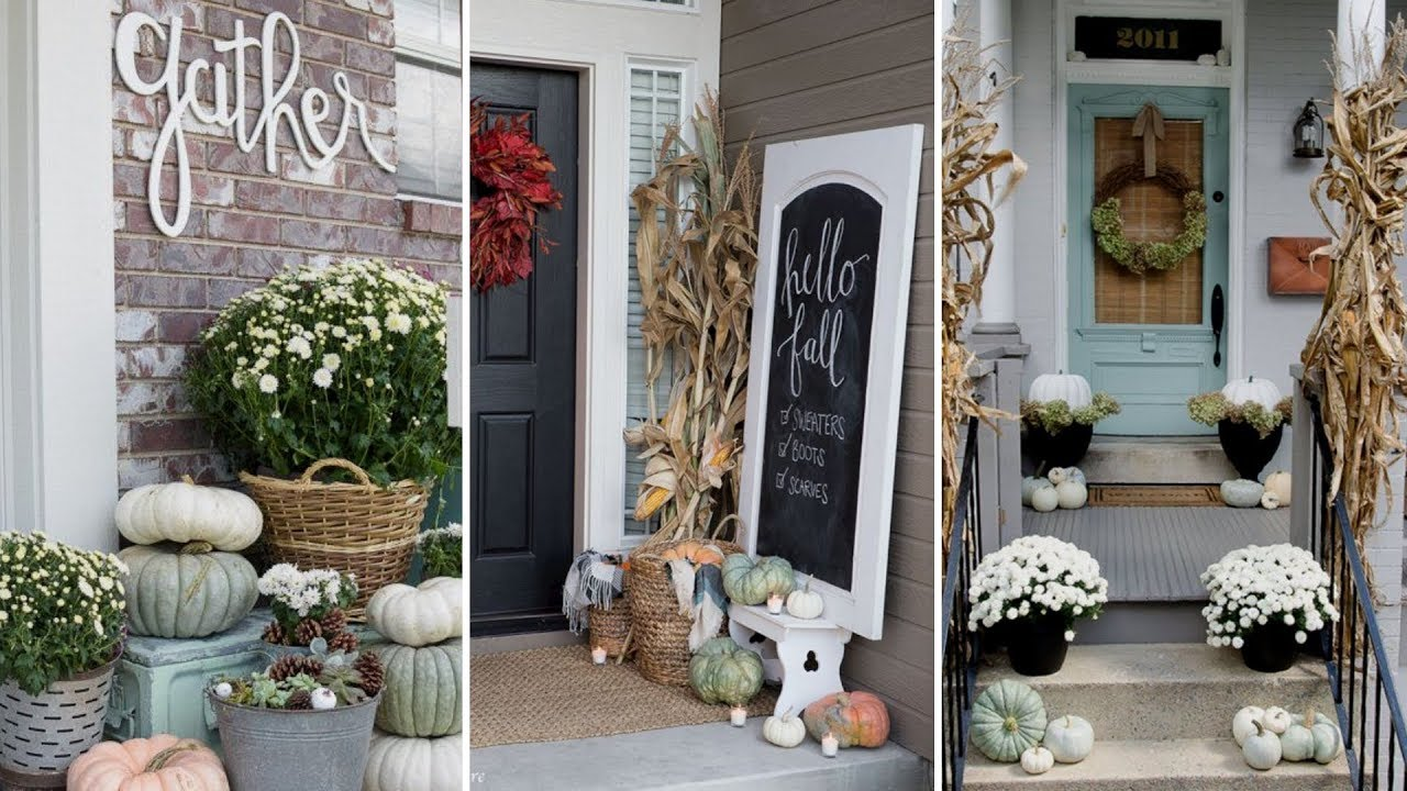 ❤DIY Rustic Farmhouse style Fall Front Porch decor Ideas❤  Fall Home decor   Flamingo Mango