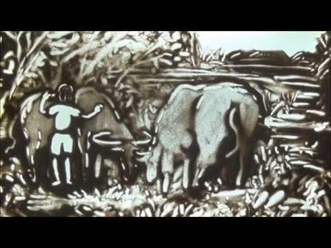 Tranh cát MÃI MỘT TÌNH QUÊ - NS. Vũ Đức Hạnh - CS. Trần Thái Ngọc - Lê Phong Giao Sand Art