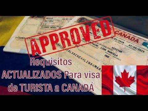 Requisitos Para Visa De Turista A Canadá
