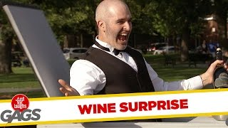 Scary Wine Pop Up Counter Prank - Just For Laughs Gags