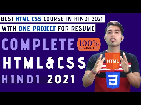 Complete HTML And CSS Tutorial In One Video In Hindi 2020