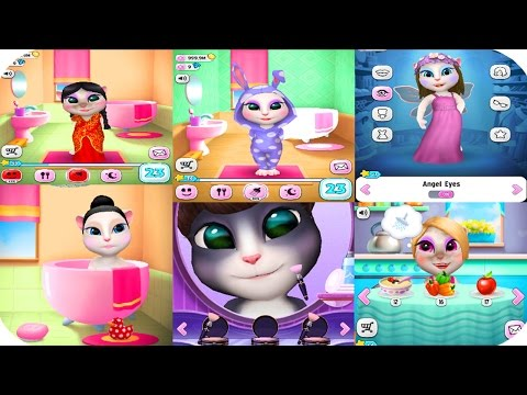 My Talking Angela BABY VS ADULT - Talking Angela Cat Great MakeOver For Children's HD 2017 - 동영상