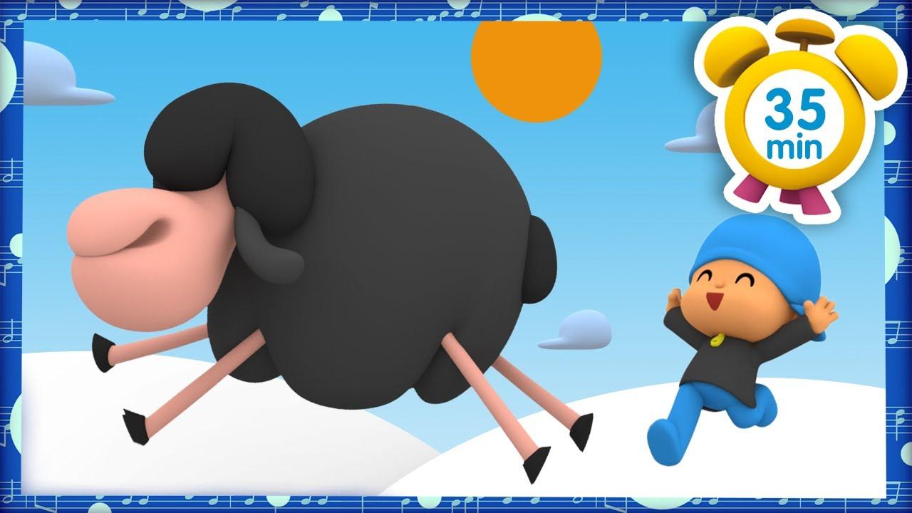 🎶🐑 CANCIONES INFANTILES de POCOYÓ - Ovejita negra [ 35 minutos ] | Caricaturas y dibujos animados