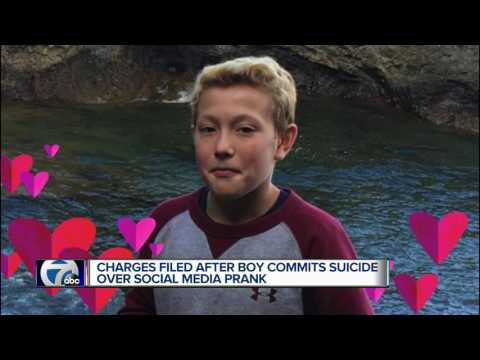 Charges filed after boy commits suicide over social media prank