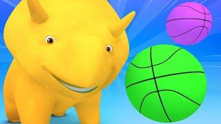 Обучающий мультфильм -  NBA - Учим цвета! - Учимся вместе с Дино | Обучающие видео для детей