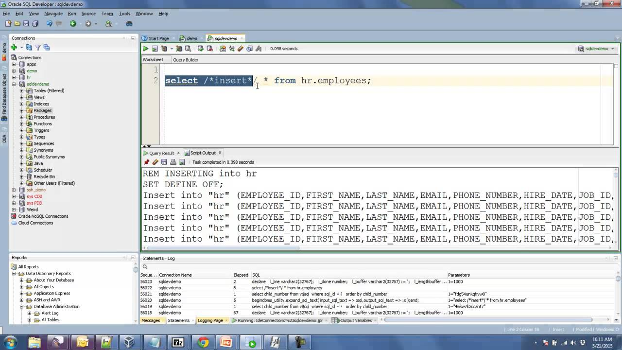 Formatting Query Results to CSV in Oracle SQL Developer