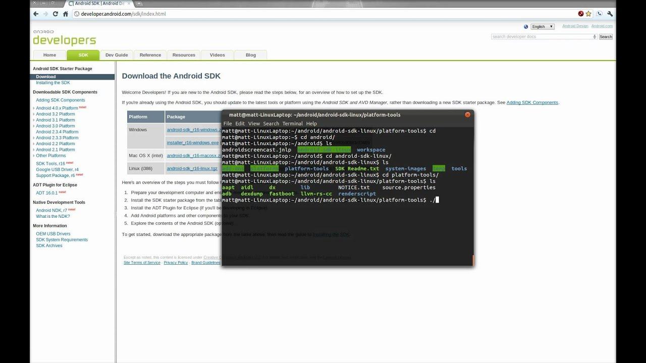 Installing ADB (Android Debug Bridge) on Linux