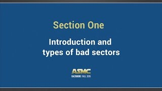 DDI Training Section 1 - Introduction and type of bad sectors
