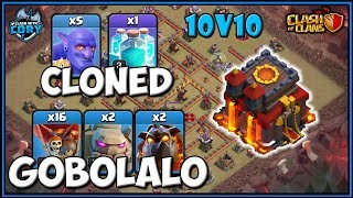 CRAZY! Cloned GoBoLaLo! TH10 LavaLoon Attack Strategy | CLASH OF CLANS