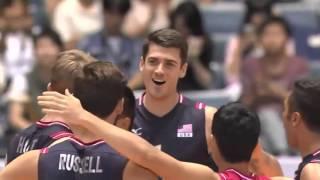 USA vs Russia  FIVB Volleyball Men's World Cup 2015 เวิลด์คัพ อเมริกา พบ รัสเซีย(США против России по волейболу ФИВБ Мужская Кубка мира 2015 года., 2015-09-28T19:01:47.000Z)