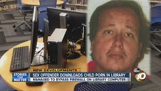 Police: Sex offender downloads child porn in library