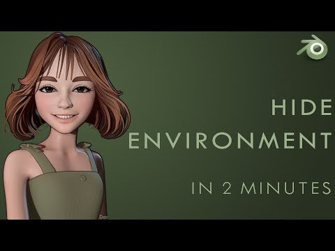 Hide HDRI Environment - Blender 2.8 Tutorial