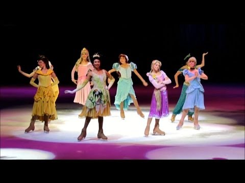 Princess Tiana, played by Kassy Kova, Disney on Ice, Princesses and Heroes, Disney on Ice poster