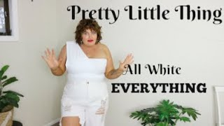 Pretty Little Thing | Plus Size Haul - ALL WHITE JLO Collection