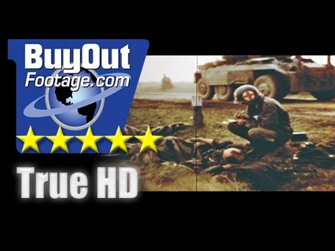 HD Historic Stock Footage WWII American Troops In Germany 1945
