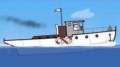 Großbau für Kinder - Das Schiff - Tolle Lerncartoons für Kinder.