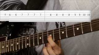 How To Play Aneurysm Guitar Lesson