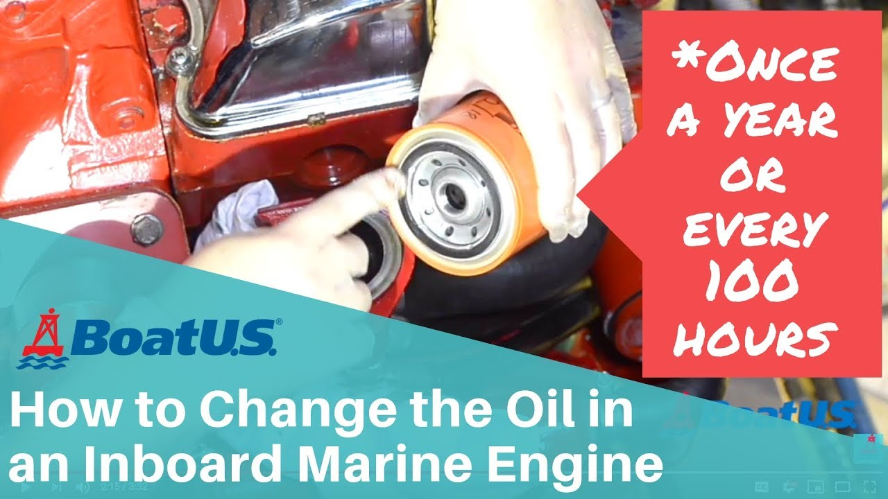 How to Change the Oil in an Inboard Marine Engine | BoatUS