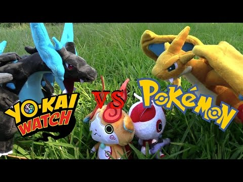 Yokai Watch vs. Pokemon plush