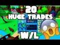 20 HUGE TRADES - Bubble Gum Simulator