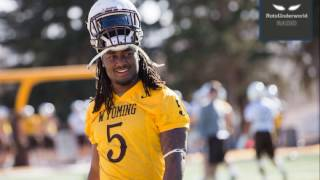 Wyoming RB Brian Hill is a top small school sleeper in the NFL Draft.