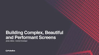 Gambar cover Jamie Adkins - Building Complex Screens that are Beautiful and Performant @ GDGReading DevFest 2018