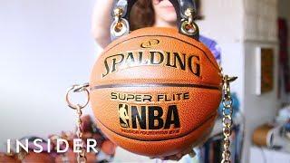 Artist Transforms Basketballs Into Fashionable Purses