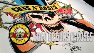 Como dibujar el Logo de Guns N' Roses - How to draw a Guns N' Roses logo(Hola en este video especial y aprovechando la inminente reunión de Axl y Slash te muestro los pasos a seguir para dibujar el logo de Guns N' Roses Seguime ..., 2016-01-08T19:29:24.000Z)