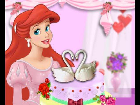 Nàng Tiên Cá Arile làm bánh ngt cho l ci (Ariel Wedding Cake)