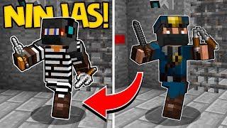 VIREI UM NINJA NO MINECRAFT !! (Minecraft Polícia e Ladrão)