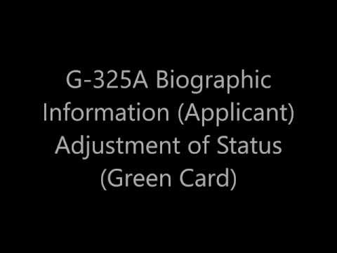 G 325a Biographic Information Applicant Adjustment Of Status
