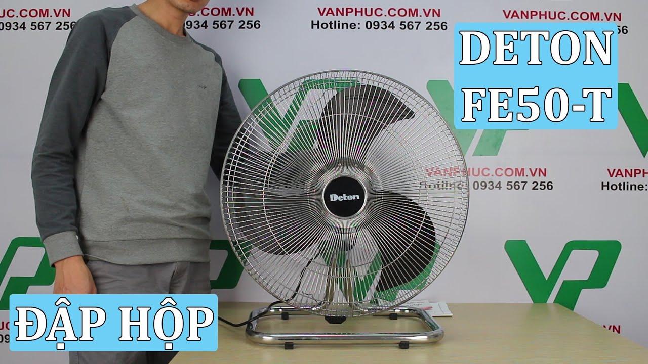 Giới thiệu quạt sàn công nghiệp mạ Inox Deton FE50-T Chính Hãng