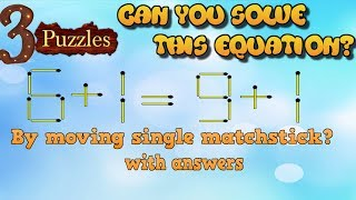 3 Puzzles | Can you solve these 3 simple puzzles? |  99 % People fail to solve these | #12
