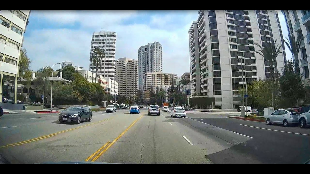 Wilshire Blvd Beverly Hills To Avenue Of The Stars Timelapse Travel Sj1000 Hd 1080p You