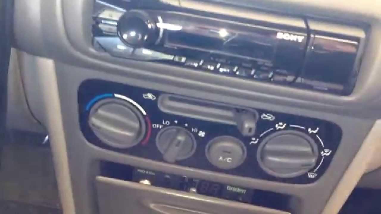 Sony DSXA40UI car stereo installation on 1998 1999 2000