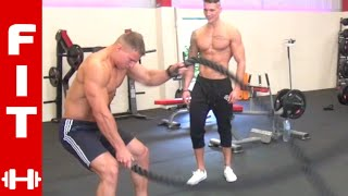 ROSS DICKERSON MIKE THURSTON BATTLE ROPES