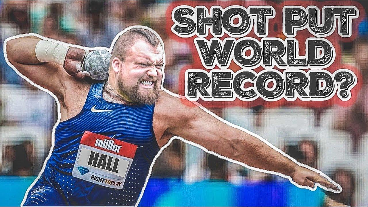 Strongman Tries Olympic Shot Put!