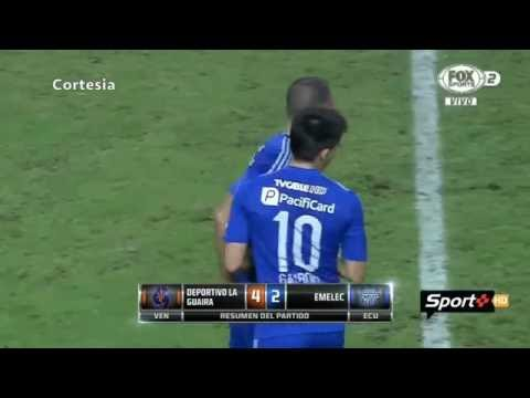 Deportivo la Guaira vs Emelec 4-2 Copa Sudamericana 23/08/2016
