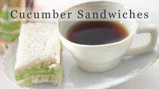 Cucumber Sandwich Recipe - Tea Sandwiches 오이 샌드위치 만들기