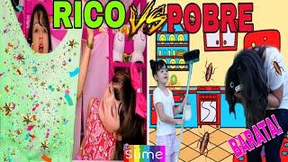 🔴 RICO VS POBRE FAZENDO AMOEBA  SLIME #3