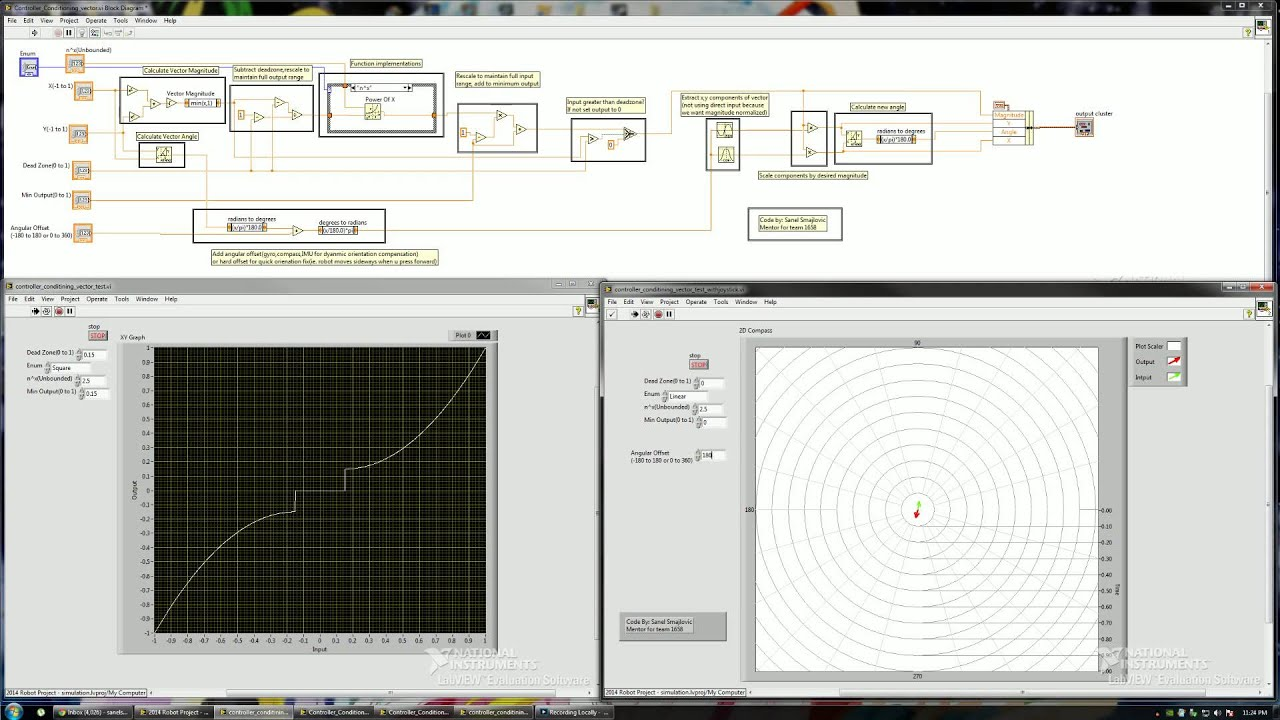 FRC joystick and gamepad calibration and processing labview vi - YouTube
