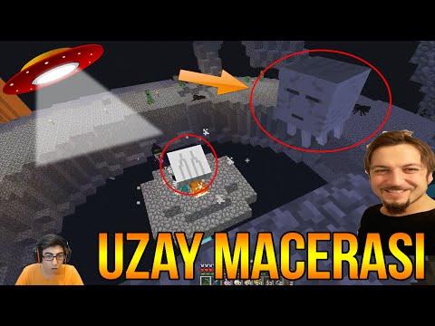 UFO VE GHAST | Minecraft Türkçe Survival - Uzay Macerası #12