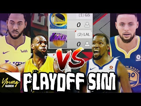2019 LAKERS VS. 2019 WARRIORS 7 GAME SERIES PLAYOFF SIMULATION ON NBA 2K18!!!
