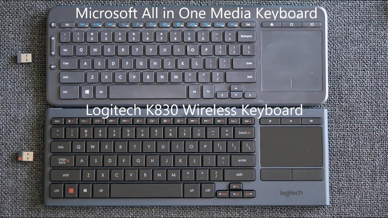 Logitech K830 Wireless Keyboard Unboxing + Comparison w Microsoft All in One Media Keyboard-Giveaway