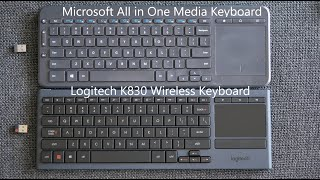 logitech K830 Wireless Keyboard Unboxing  Comparison w Microsoft All in One Media Keyboard-Giveaway