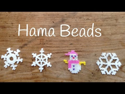 Muñeco de nieve, unos adornos navideños hechos en casa con hama beads